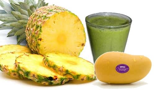 Pineapple-Mango Green Smoothie