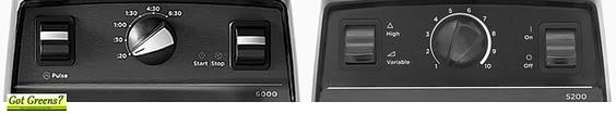 vitamix 6000 vs 5200 controls