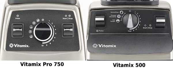 Vitamix Pro 750 vs Vitamix 500